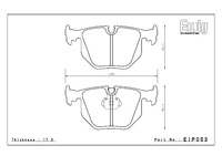 Тормозные колодки Endless ME20 EIP053 задние BMW E46