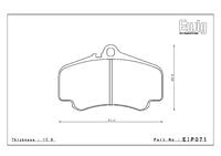 Тормозные колодки Endless PRE EIP071 Porsche 911 (996) Turbo 997.2 Carrera S передние