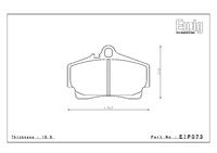 Тормозные колодки Endless PR01 EIP073 Porsche  911 Carrera /4 (996/997) Cayman (987) S задние