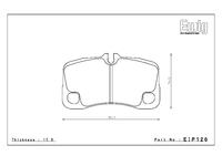 Тормозные колодки Endless PRE EIP126 Porsche 911 (997) GT3 задние