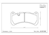 Тормозные колодки Endless ME20 EIP130 Mercedes-Benz SLK (R171) передние