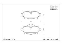 Тормозные колодки Endless CC-Rg EIP141 Mini Cooper R55-R59 задние
