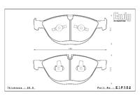 Тормозные колодки Endless ME20 EIP152 BMW M5 E60 передние