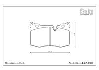 Тормозные колодки Endless CC-Rg EIP168 MINI John Cooper Works R55-R59 передние