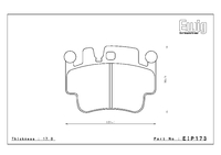 Тормозные колодки Endless PRE EIP173 Porsche 911 (997) Carrera S/4S задние