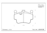 Тормозные колодки Endless PR01 EIP175 Porsche Сarrera (997.2) 4S, Cayman (987) 2.9 / 3.4S / 3.4R  передние