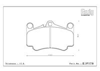 Тормозные колодки Endless PRE EIP179 Porsche 911 (997) Carrera S/4S передние