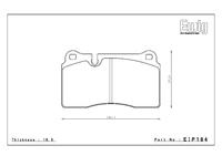 Тормозные колодки Endless MXRS EIP184MXRS AUDI TT Coupe 3.5 RS Brembo передние