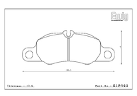 Тормозные колодки Endless PR01 EIP193 Porsche Cayman S передние