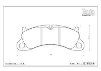 Тормозные колодки Endless PR01 EIP214 Porsche 911 (991) Carrera S/4S передние
