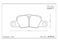 Тормозные колодки Endless PR01 EIP215 Porsche 911 (991) Carrera S/4S задние