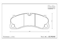 Тормозные колодки Endless PRE EIP240 Porsche 911 991 GT3/Turbo передние