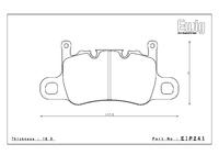 Тормозные колодки Endless PR01 EIP241 Porsche 911 991 GT3/Turbo задние