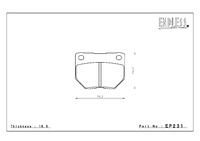 Тормозные колодки Endless NS97 EP231 (R236) Subaru Impreza GC8/GF8, GDA, GDB, Nissan Skyline R32/33, BNR32, ECR33, ER34