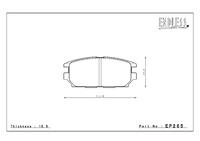 Тормозные колодки Endless CC-Rg EP265 (R555) Mitsubishi EVO IV-IX