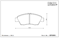 Тормозные колодки Endless Y-Sports EP280 (F398) Honda Fit
