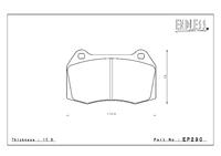 Тормозные колодки Endless ME20 (CC40) EP290 (F206) Nissan Skyline BNR32, BCNR33, BNR34