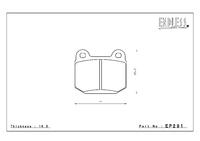 Тормозные колодки Endless ME20 (CC40) EP291 (R206) Nissan Skyline BNR32, BCNR33, BNR34