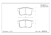 Тормозные колодки Endless MXRS EP312 (R389) Honda Accord CL1 CL7 CL9