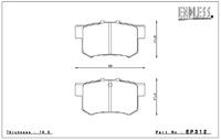 Тормозные колодки Endless Y-Sports EP312 (R389) Honda Accord CL1 CL7 CL9