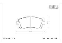 Тормозные колодки Endless Y-Sports EP348 (F913) передние Subaru Impreza Forester