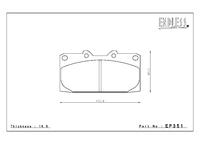 Тормозные колодки Endless NS97 EP351 (F941) Subaru Legacy BH5/BE5, Impreza GC8/GDA/GDB предние