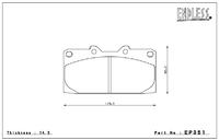 Тормозные колодки Endless Y-Sports EP351 (F941) Subaru Legacy BH5/BE5, Impreza GC8/GDA/GDB