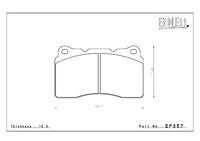 Тормозные колодки Endless NS97 EP357 (F506/906) Mitsubishi EVO V-IX CT9A GSR-RS, CZ4A brembo, Subaru GDB/GRB (WRX Sti brembo)