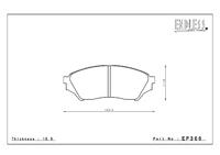 Тормозные колодки Endless Y-Sports EP366 (F508) Mitsubishi Mini/Junior 97-