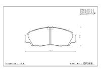 Тормозные колодки Endless Y-Sports EP368 (F302) Honda Accord CL1 CL7 CL9 CU1 CU2(JDM)