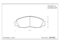 Тормозные колодки Endless Y-Sports EP392 (F304) Honda Accord CL1, CL7