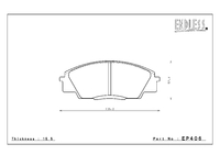 Тормозные колодки Endless MXRS EP406 (F336) Honda S2000