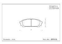 Тормозные колодки Endless NS97 EP412 (R913) задние Subaru Forester Impreza