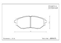 Тормозные колодки Endless NS97 EP417 (F916) Subaru Legacy BPE, BL5, BP5, BM9, BR9, BP9