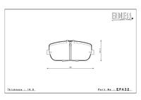 Тормозные колодки Endless NS97 EP432NS97 Mazda MX5 задние