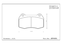 Тормозные колодки Endless NS97 EP450 (F300) Honda Civic Type R FD2 передние