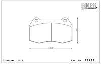 Тормозные колодки Endless Y-Sports EP450 (F300) Honda Civic Type R FD2 передние