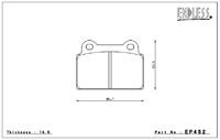 Тормозные колодки Endless Y-Sports EP452 (R500) Mitsubishi EVO X  CZ4A brembo