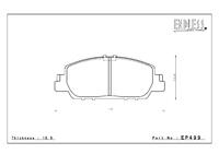 Тормозные колодки Endless S-Sports EP351 (F941) Subaru Legacy BH5/BE5, Impreza GC8/GDA/GDB передние