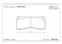 Тормозные колодки Endless CC-Rg RCP052  для 6-ти порш. тормозной системы Endless на Mitsubishi Lancer EVO